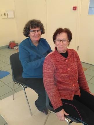 Massage des épaules en fin de séance