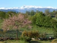 Vue sur le Mont Vallier depuis le gîte