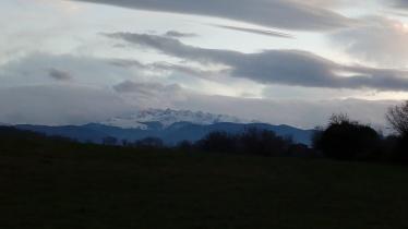 Premier soir : vue sur le Mont Vallier