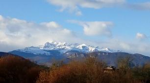 Le Mont Vallier sous le soleil matinal