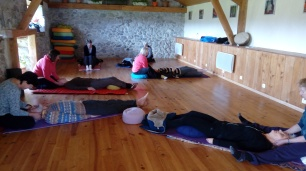 Moments de massage lors du stage de Qi Gong